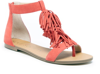 Sole Society Koa Fringed T-Strap Sandal