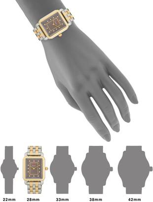 Michele Deco II Diamond Two-Tone Stainless Steel Bracelet Watch