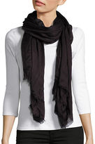 Lord & Taylor Solid Fringed Pashmina Scarf
