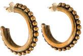 Stephen Dweck Beaded Hoop Earrings