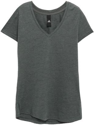 adidas Printed Slub Cotton-blend Jersey T-shirt