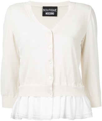 Boutique Moschino Frill Trim Cardigan