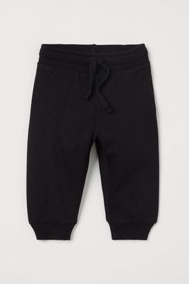 H&M Cotton Sweatpants - Black