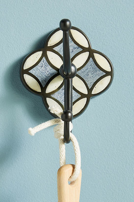 Anthropologie Aleah Inlay Towel Hook By in Black Size ALL