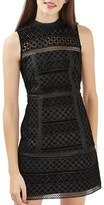 Topshop Women's Cutout Velvet Shift Dress