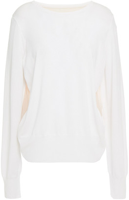 Wolford Paneled Cotton-blend And Stretch-tulle Top