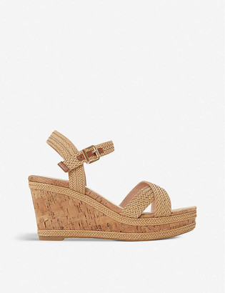 Dune Kelisa faux-leather wedge sandals