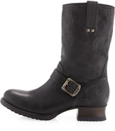 Frye Martina Engineer Short Boot, Black