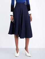 Sportmax Napoli draped woven midi skirt