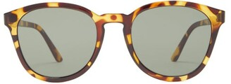 Le Specs Renegade Round Tortoiseshell-effect Sunglasses - Womens - Tortoiseshell