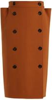 Bottega Veneta High-rise folded-side wool pencil skirt