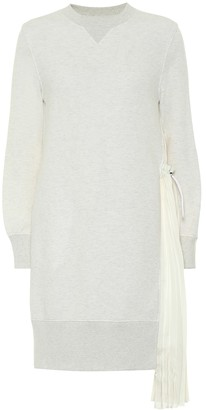 Sacai Cotton-blend jersey sweatshirt dress