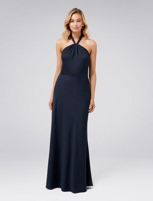 Forever New Chen Halterneck Gown - Navy - 4