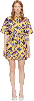 Kirin Multicolor Jacquard Typo Dress
