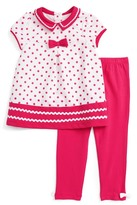 Little Me Dress & Leggings Set (Baby Girls)