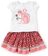 Kate Spade Baby Girls 12-24 Months Monkey-Graphic Tee & Skirt Set