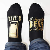 Weasel and Stoat Personalised Mens, I Should Beer So Lucky, Gift Socks