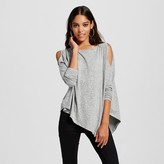 Women's Cold Shoulder Asymmetrical Tee - Mossimo