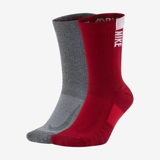 Nike Crew Socks (2 Pairs College Multiplier (Georgia)