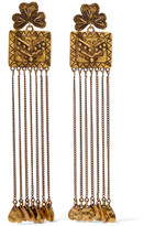 Chloé Maddie Hammered Gold-tone Earrings - one size