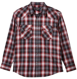 Pendleton Long Sleeve Frontier (Red/Black Plaid) Men's Clothing