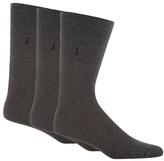 J By Jasper Conran Designer Pack Of Three Grey Plain Socks