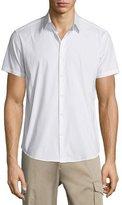 Theory Sylvain Short-Sleeve Shirt, White