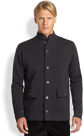 Saks Fifth Avenue Collection Wool Sweater Jacket