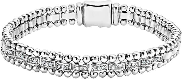 Lagos 7mm Caviar Spark Bracelet with Diamonds