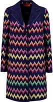 Missoni Glittered crochet-knit coat