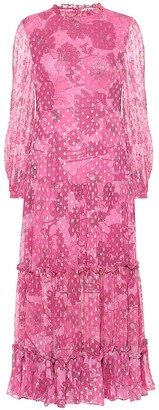 Rixo Becky floral midi dress