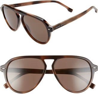 BOSS 57mm Flat Top Sunglasses