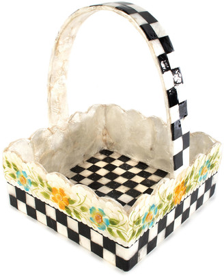 Mackenzie Childs Picket Fence Basket
