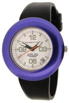 Momentum Women's 1M-SP99WP1B Alter Ego Purple Bezel White Dial Black Band Watch