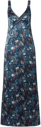R 13 Floral-print Silk-georgette Maxi Dress