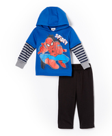 Children's Apparel Network Blue Spider-Man Knit Hoodie & Pants - Toddler & Boys