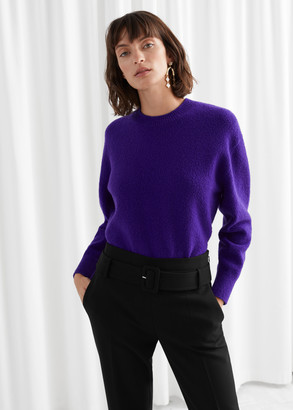 And other stories Textured Knit Relaxed Sweater
