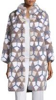 Norman Ambrose Intarsia Mink-Fur Coat