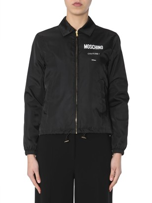 Moschino Bomber With Logo Print