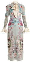 Temperley London Woodland floral-embroidered silk-chiffon dress
