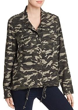 BeachLunchLounge Tulsi Camo Print Shirt Jacket