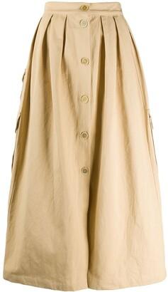 Erika Cavallini Button Down Pleated Skirt