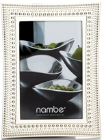 "Nambe Beaded 4"" x 6"" Frame"