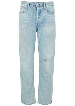 Citizens of Humanity McKenzie Distressed Straight-leg Jeans