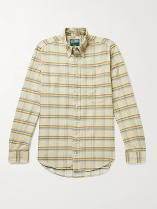 Gitman Brothers Slim-Fit Button-Down Collar Checked Cotton-Corduroy Shirt