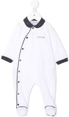 Emporio Armani Kids My First contrast trim pyjama
