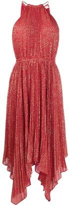 MICHAEL Michael Kors Strar-Print Pleated Dress