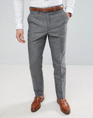 French Connection Semi Plain Donegal Slim Fit Suit Pants