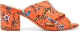 Sam Edelman Stanley Printed Twill Mules - Orange