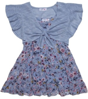 Beautees Big Girls 2-Pc. Floral-Print Tunic & Shrug Set